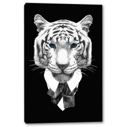 Tablou Canvas Portret Tigru Alb Negru